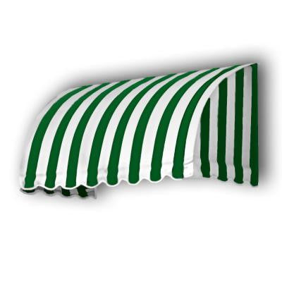 30 ft. Savannah Window/Entry Awning (44 in. H x 36 in. D) in Forest/White Stripe