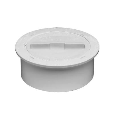 4 in. PVC Snap-In Drain, Waste and Vent Cleanout Assembly