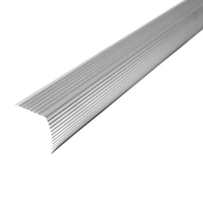 Cinch 1.22 in. x 36 in. Satin Silver Fluted Stair Edging Transition Strip