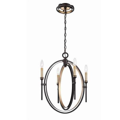 Infinity Collection 4-Light Oil Rubbed Bronze Chandelier