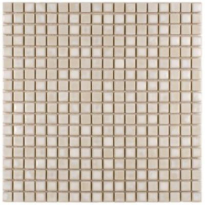 Rustica Mini Glacier 12 in. x 12 in. x 6 mm Porcelain Mosaic Floor and Wall Tile