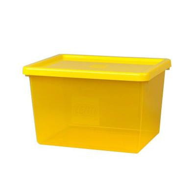 Storage Box Large with Sorting Tray and lid 14.74 in. x 11.66 in. x 9.24 in. Polypropylene in Bright Yellow