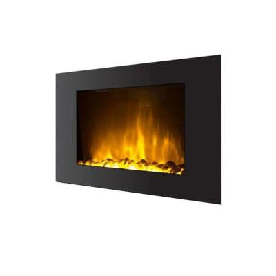 Oslo 35 in. Wall-Mount Electric Fireplace with Color-Changing Flame in Black