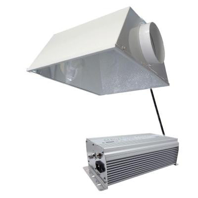 400-Watt HPS/MH White Grow Light System with Timer/Remote Ballast and Air Cooled Reflector