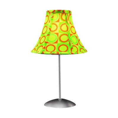 15.5 in. Green and Yellow Table Lamp