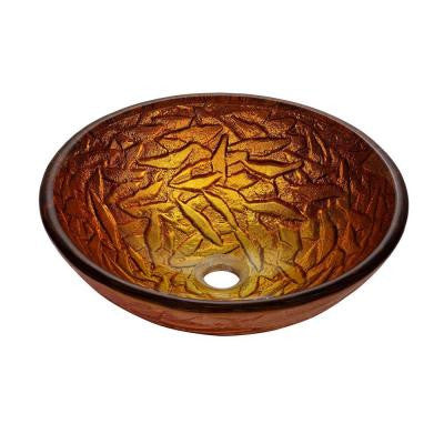 Blaze Glass Vessel Sink in Multicolor