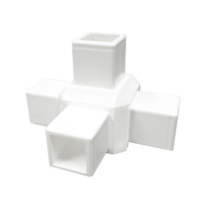 White Modular Vinyl 4-Way Fence Tee (12-Box)