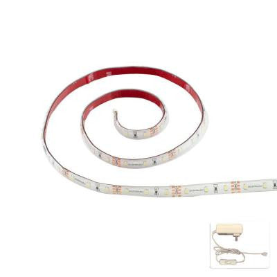36 in. FlexLED Warm White Flexible Linkable LED Strip and 2-Amp Power Supply Complete Kit