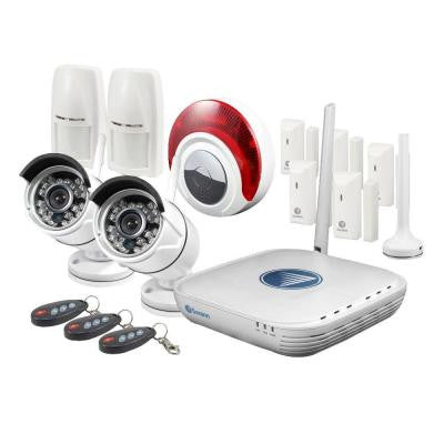 Wi-Fi Micro Network Video Recorder and Alarm Kit