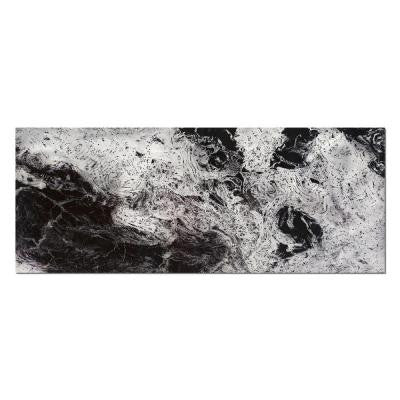 Brevium 19 in. x 48 in. Storm Black and White Metal Wall Art