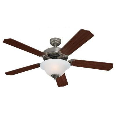 Quality Max Plus 52 in. Brushed Nickel Indoor Ceiling Fan