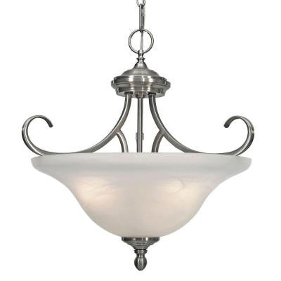 Starke Collection 3-Light Pewter Semi-Flush Mount Light