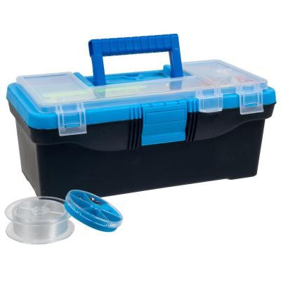 52-Piece Tackle Box with Lure and Accessories Set