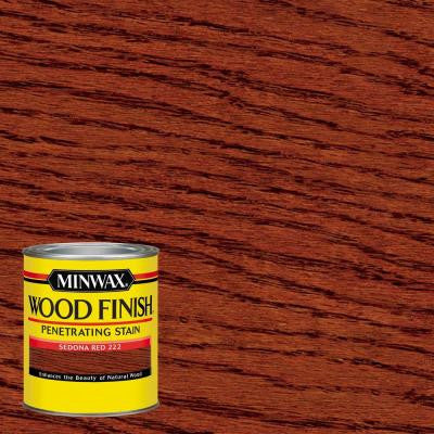 1 qt. Wood Finish Sedona Red Oil-Based Interior Stain