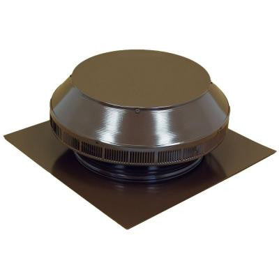 12 in. Dia Aluminum Roof Louver Exhaust Vent in Brown Powder Coat