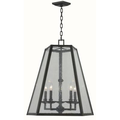 Bedford 5-Light Oiled Rubbed Bronze Glass Pendant