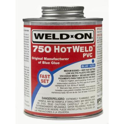 16 oz. PVC 750 Hot Weld Cement - Blue