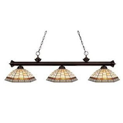 Lawrence 3-Light Bronze Incandescent Ceiling Island Light