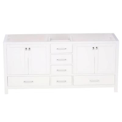 Caroline Avenue 72 in. Vanity Cabinet Only in White
