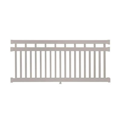 Hallandale 42 in. x 72 in. Vinyl Tan Straight Rail Kit