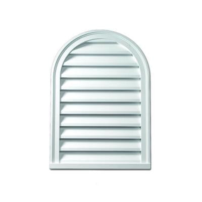 22 in. x 31-1/2 in. x 2 in. Polyurethane Functional Cathedral Louver Gable Vent