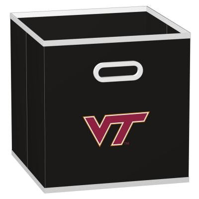 College STOREITS Virginia Tech University 10-1/2 in. W x 10-1/2 in. H x 11 in. D Black Fabric Storage Drawer