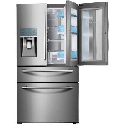 23.6 cu. ft. Food Showcase 4-Door French Door Refrigerator in Stainless Steel, Counter Depth