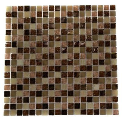 Southern Comfort Squares 12 in. x 12 in. x 8 mm Glass Mosaic Floor and Wall Tile