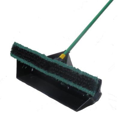 24 in. Pre-Attached No Bending Dust Pan and Quickie Bulldozer Push Broom