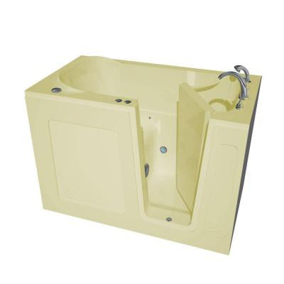 4.5 ft. Right Drain Walk-In Air Bath Tub in Biscuit