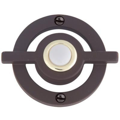 Avalon Collection 2.5 in. Aged Bronze Door Bell