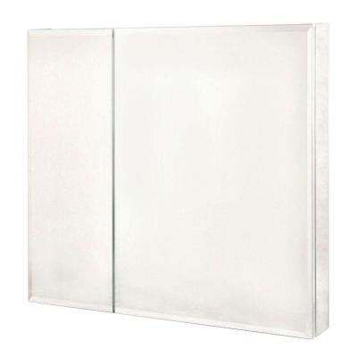 30 in. x 30 in. Recessed or Surface Mount Medicine Cabinet in Bi-View Beveled Mirror