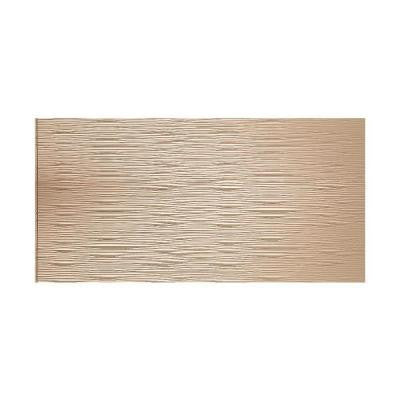 Waves Horizontal 96 in. x 48 in. Decorative Wall Panel in Bisque