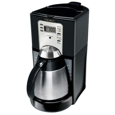 10-Cup Programmable Thermal Coffeemaker in Black