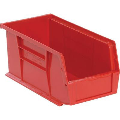 1.3-Gal. Stackable Plastic Storage Bin in Red (12-Pack)
