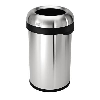 80 l Brushed Stainless Steel Bullet Open Trash Can