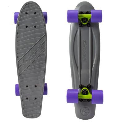 22.5 in. Classics Complete Skateboard in Gray and Lime