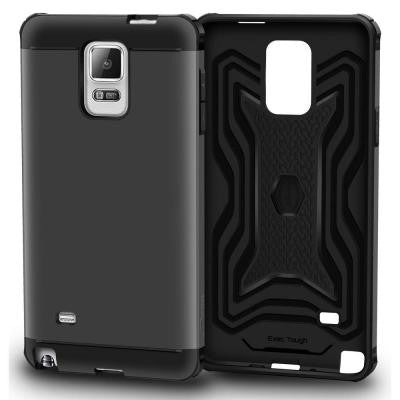 Slim Fit EXEC Armor Hybrid PC TPU Case for Galaxy Note 4 - Gray