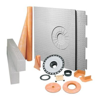 Kerdi 32 in. x 60 in. ABS Off-Center Tileable Covering Shower Kit