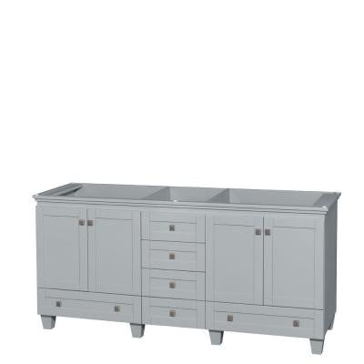Acclaim 72 in. Vanity Cabinet in Oyster Gray