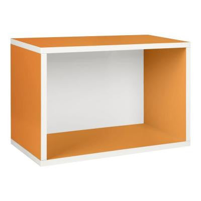 Rectangle Plus 22.8 in. L x 15.5 in. H Orange Stackable 1-Cube Organizer