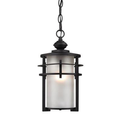 Meadowview 1-Light Matte Black Outdoor Pendant