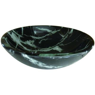 Kingston Marble Brass Vessel Sink in Black