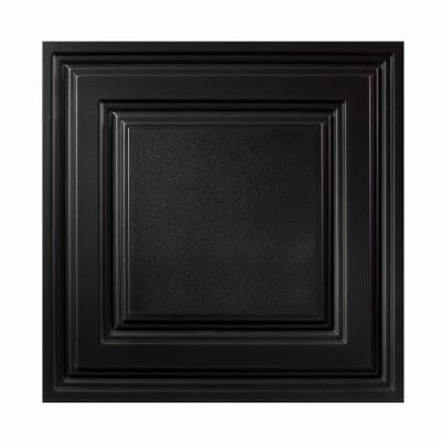 2 ft. x 2 ft. Icon Relief Black Ceiling Tile