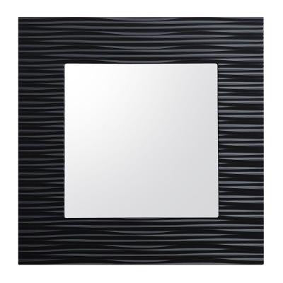 Zuvitria 32 in. W x 32 in. H Single Wall Hung Mirror in Black