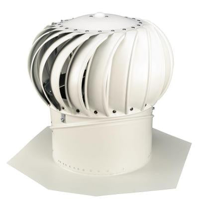 12 in. White Aluminum Internally Braced Wind Turbine