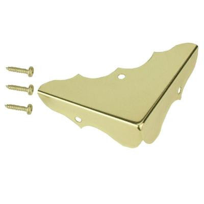 5/8 in. x 1-3/4 in. Bright Brass Decorative Corners