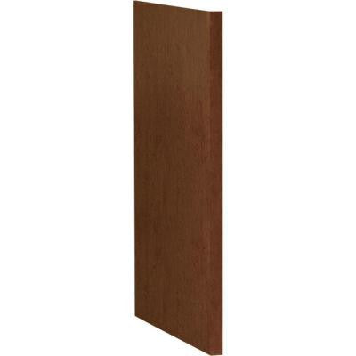 1.5x34.5x24 in. Kitchen Dishwasher End Panel in Cognac