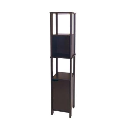 Ambassador 14.13 in. W Wood High Cabinet in Espresso