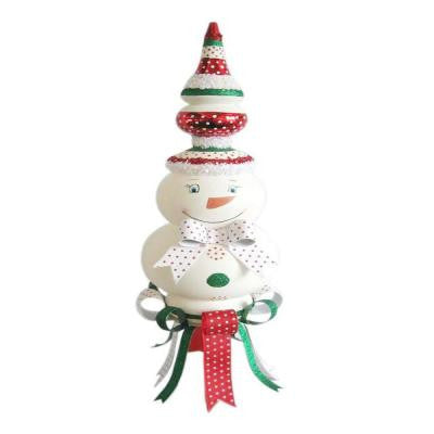 27.5 in. Snowman and Bow Table Piece
